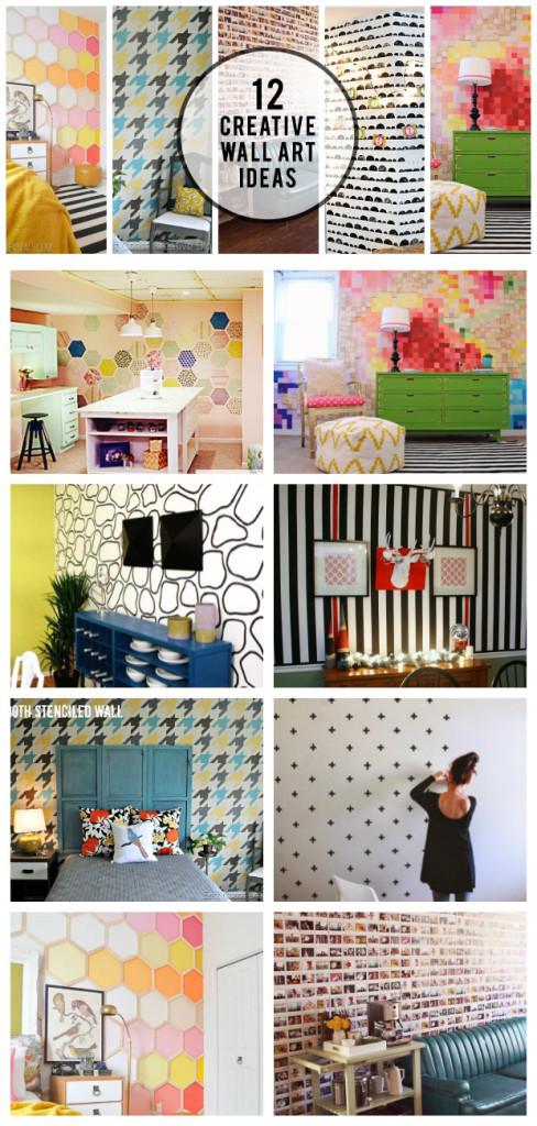 12 Creative Wall Art Ideas: Creating a Statement Wall ... on Creative:kqmwrvdqiag= Wall Art Ideas  id=92109