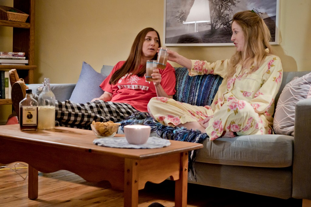 Chelsea Peretti as Gaby and Susan Kent as Amanda in SPINSTER (c) 2019 SEA GREEN PICTURES INC - Corey Isenor