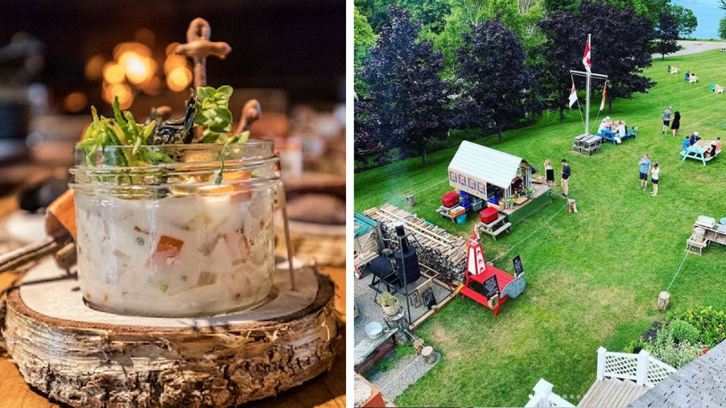 Fire Works Restaurant and at Picnic Days Inn at Bay Fortune