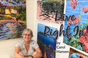 Dive Right In a solo exhibit by Carol Hansen
