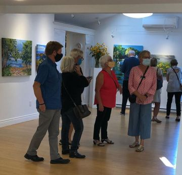 Dive Right In opening reception at Chester Art Centre September 24