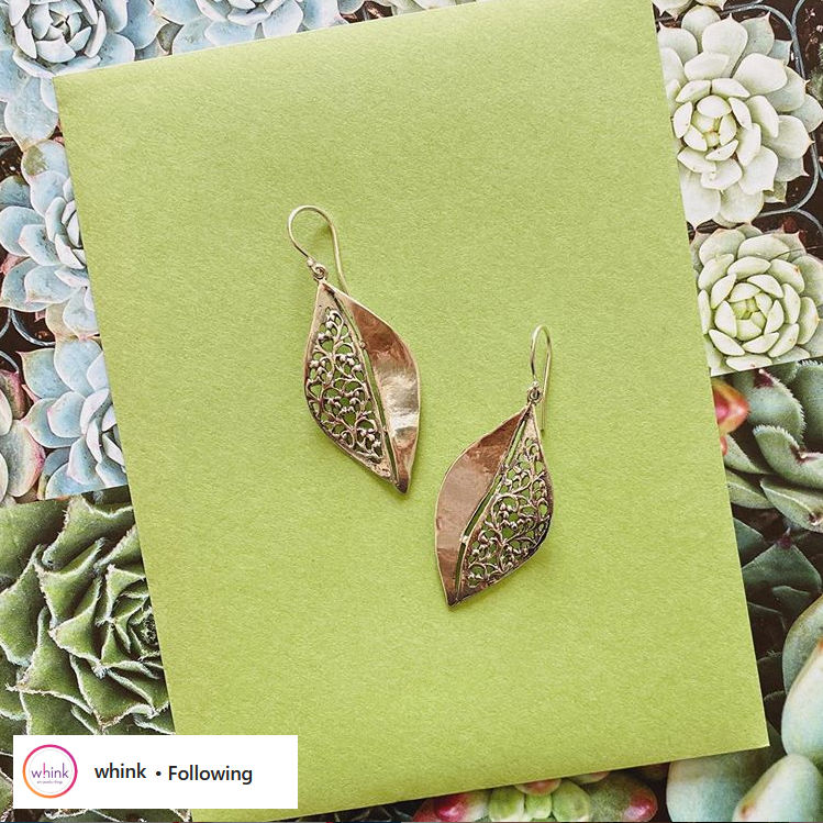 whink leaf earrings
