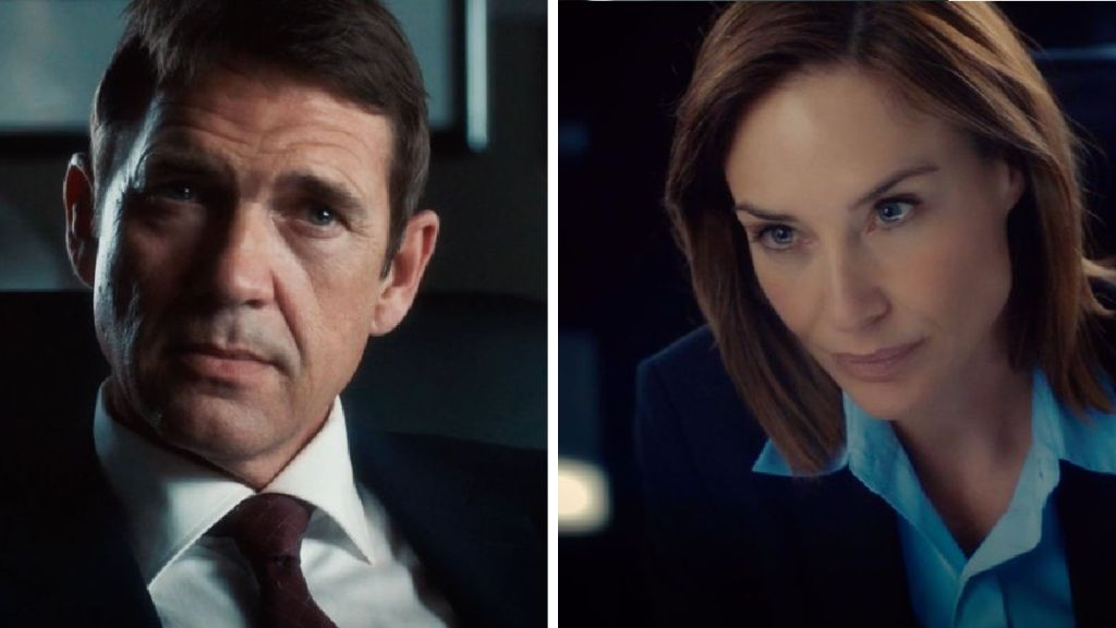 Dougray Scott and Claire Forlani in DEPARTURE
