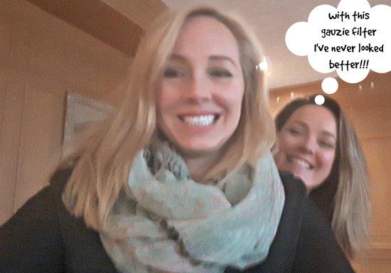 Latonia Hartery with host Stephanie Beaumont
