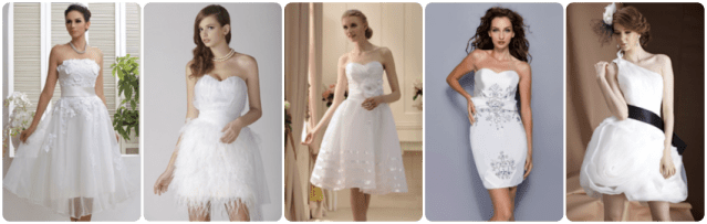 tidebuy wedding gowns, cheap, affordable, short leangth