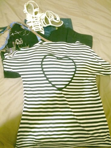 heart top, stripped top, znu online store