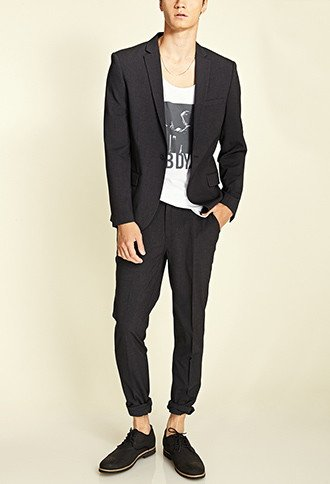 men's fashion, trendy, forever 21,Single-Button Blazer, oh man