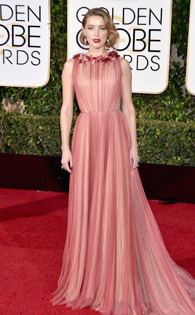 2016 Golden Globes Winner, Amber-Heard-Golden-Globe-Awards