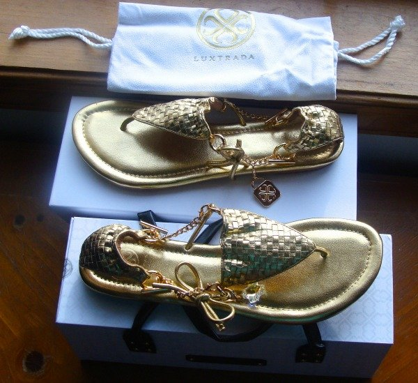 Luxtrada, Sandals With A Bikini Look To Them, gold, Theia sandals