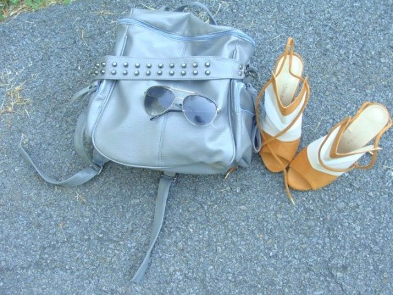 lace-up heels, Rosegal.com, spiked backpack, mesh top, netted top
