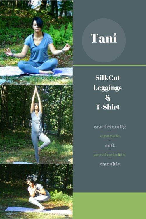 Eco-Friendly Products To Use When Doing Yoga & Meditation, tani, silkcut leggings, t-shirt