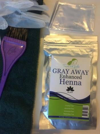 Natural Hair Dye, Treasured locks, Gray Away Enhanced Henna