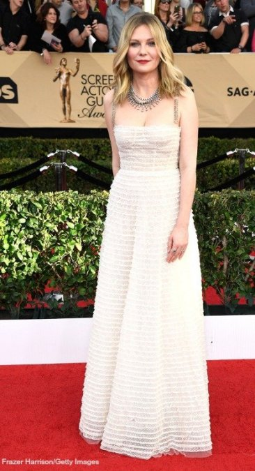 Kirsten Dunst, 23rd Sag Awards 2017 Best Dressed Celebrities Red Carpet