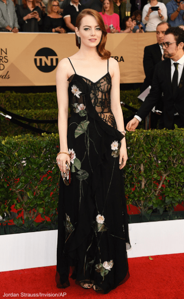 Emma Stone, 23rd Sag Awards 2017 Best Dressed Celebrities Red Carpet