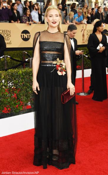 Kate Hudson, 23rd Sag Awards 2017 Best Dressed Celebrities Red Carpet