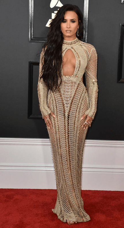 DEMI LOVATO, In Julien Macdonald Grammys 2017