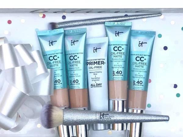 long lasting makeup, it cosmetics, shine free, Matte, primer, foundation, SPF 40, vegan, organic