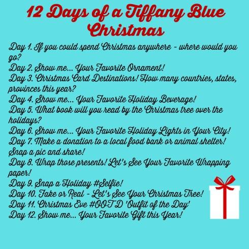 12 Days of a Tiffany Blue Christmas