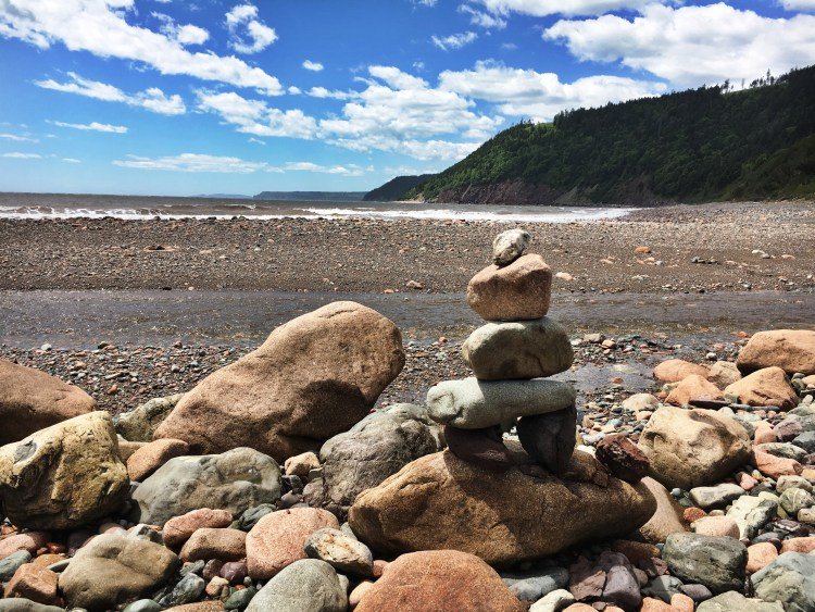 Long Beach - Rock Formation - Fundy Trail Parkway