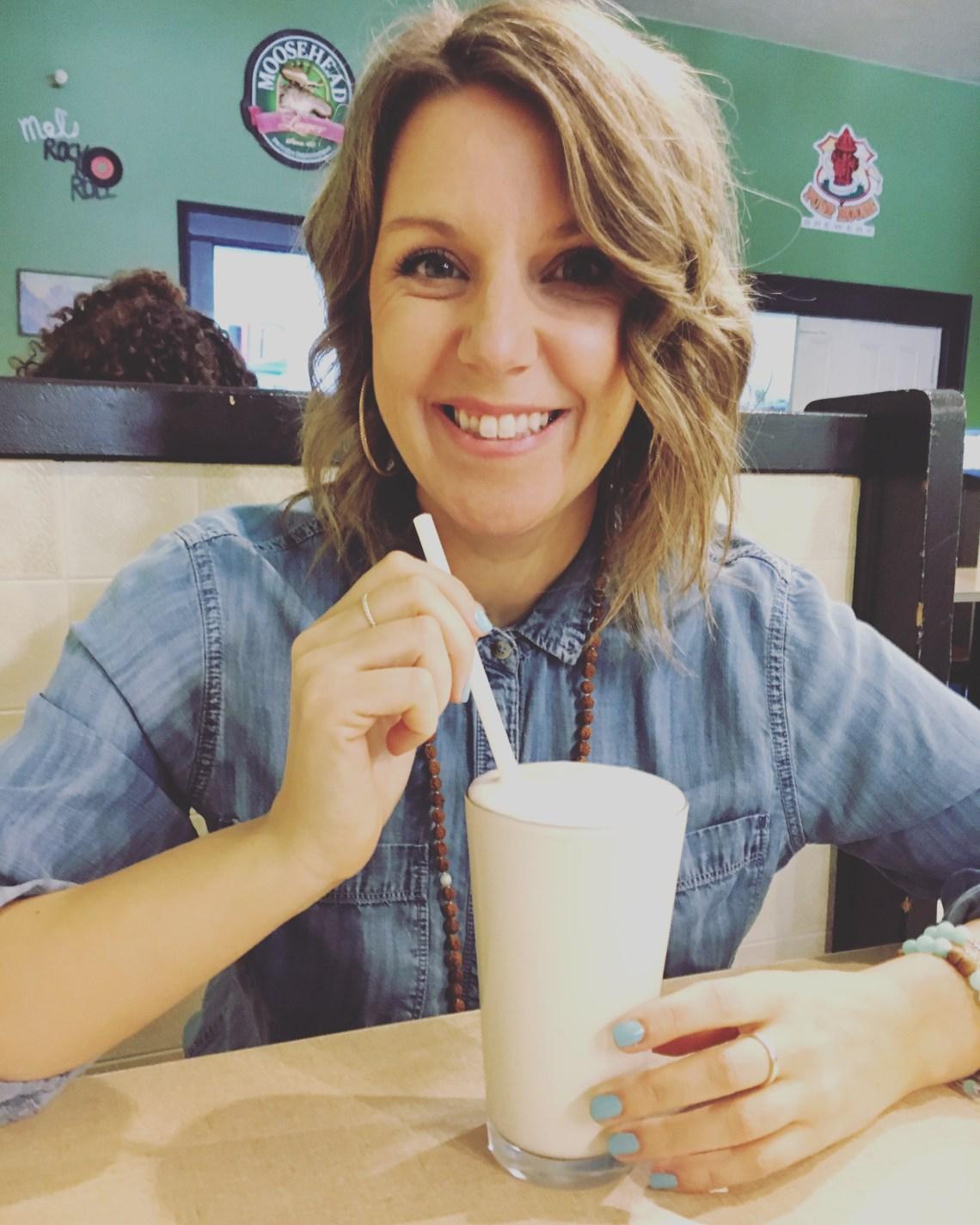 Mel's Tearoom Sackville New Brunswick Milkshake