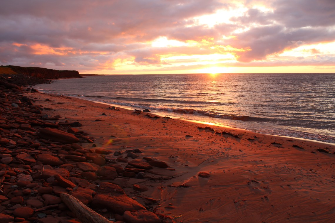 east coast mermaid prince edward island sunset