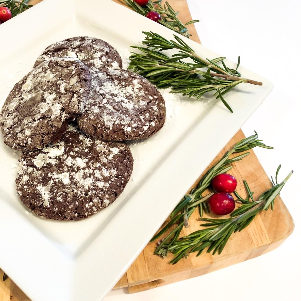 Sea Salt Caramel Chocolate Crinkle Cookies 2
