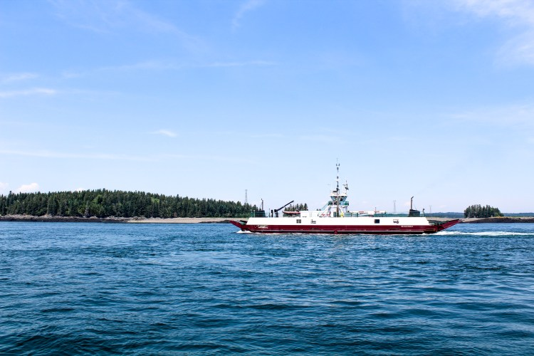 Deer Island Ferry Passing