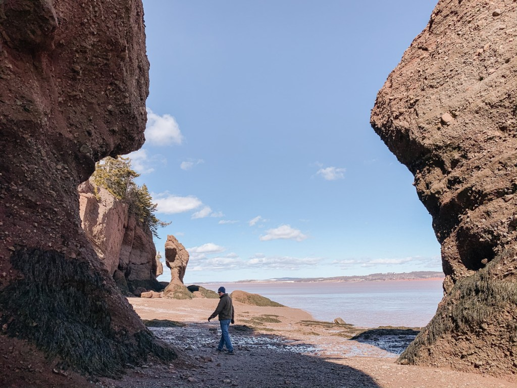 East Coast Mermaid's Winter Escape to the Hopewell Rocks, New Brunswick