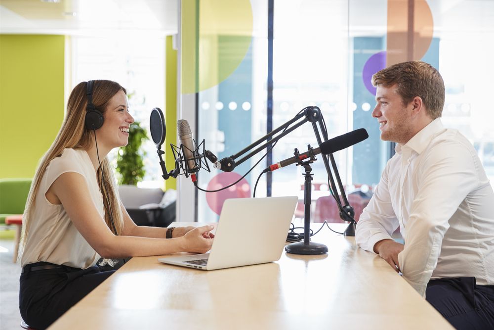 Man and Woman Podcasting Canada