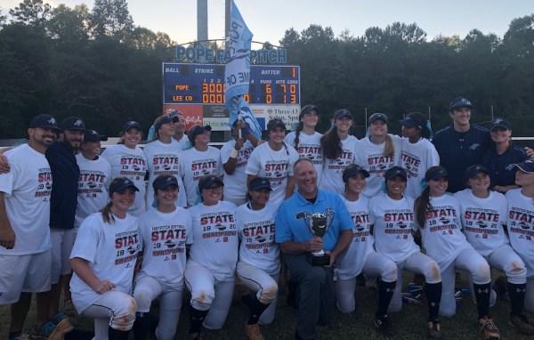 Pope softball team state champions