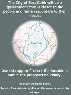 East Cobb city interactive map