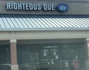 Righteous Que, East Cobb food scores