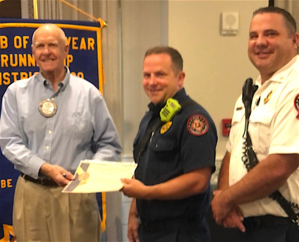 East Cobb Rotary recognizes firefighter