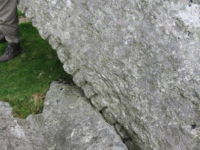 The marks of early stone masons on the granite: Feather & Tare