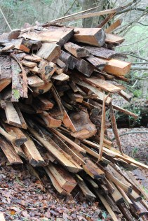 A stack of offcuts – but it's not wasted!