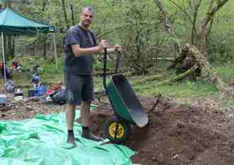 Protecting the woodland ground flora with plastic sheeting
