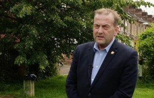 A photo of Exeter City Council leader Councillor Phil Bialyk in Bull Meadow Park