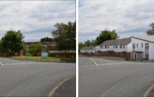 How the site in Mudbank Lane, Exmouth, once looked and artist's impressions of the scheme from the original planning application.