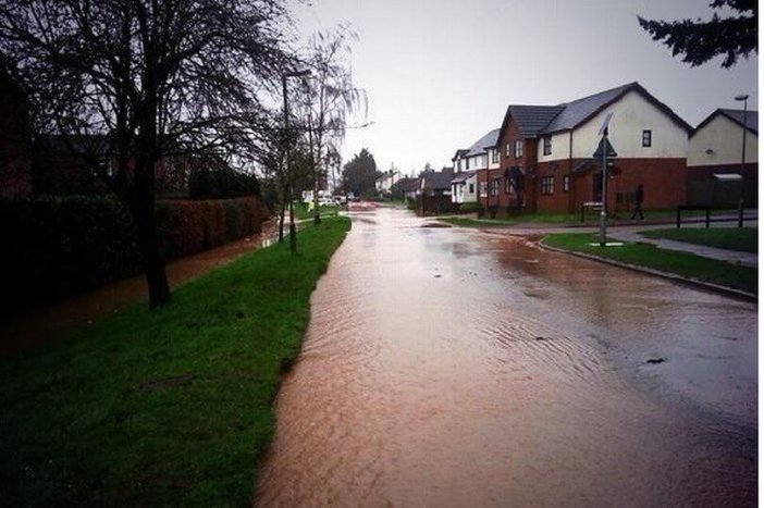 Flooding in Feniton in 2014