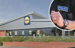Police say they are investigating a theft at the Lidl store in Dinan Way, Exmouth. Main image: Google Maps