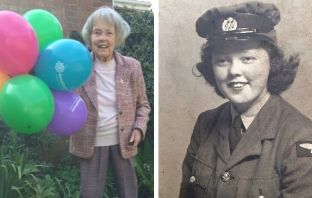 Joan Crowden, lovingly known as Granny Joan, from Brixington, Exmouth, is tasing on a fundraising challenge for Hospiscare.
