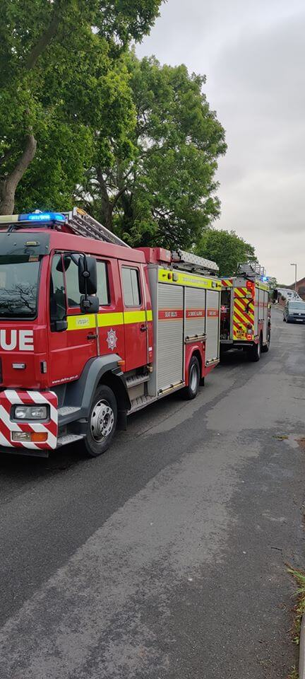 Photo: Budleigh at Exmouth Fire Station.