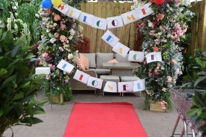 Staff at Otter Garden Centres rolled out the red carpet. Picture: Sue Cade