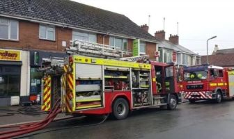 Fire crews in Withycombe Village Road, Exmouth. Picture: contributed