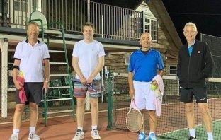 Sidmouth Tennis Club Men's B team (l-r) Martin Dawes, David Watkins, George Buttgieg and Bob Heffill. Picture Sidmouth Tennis Club.
