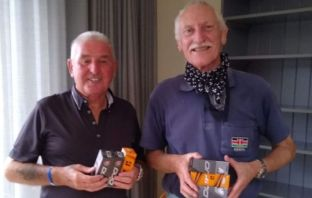 Brian Margison (left) and Paul Blay after their win at Dainton Golf Club in the Sidmouth Captains' Away Day meeting. Picture: Hugh Dorliac