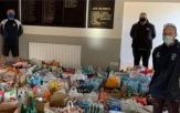 Exmouth and Budleigh Salterton sports clubs have amassed a huge haul of food for Exmouth Community Larder. Pictures: Withycombe RFC