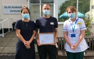 Pictured left to right: Nicola Shayler, The Firs Residential Home Manager, award winner Dave Gearing and Ruth Bryant, Frailty Clinical Lead at Royal Devon and Exeter NHS Foundation Trust Exmouth Hospital and Woodbury Exmouth and Budleigh Salterton Community Services
