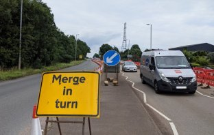 Roadworks at the South West Exeter development, near the Devon Hotel. Image: LDRS