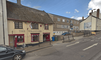 The Volunteer in Honiton High Street is next-door to the town's police station. Image: Google Maps